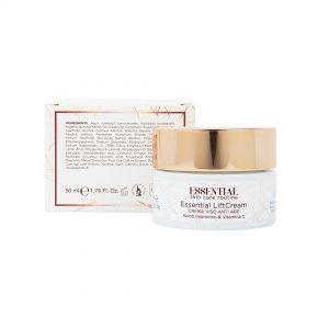 Essential LiftCream: crema viso Anti Rughe con Acido Ialuronico e Vitamina C, 50 ml